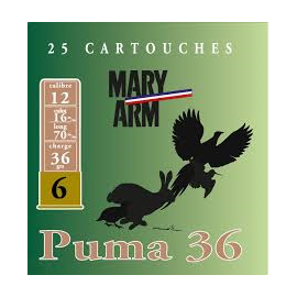 MARY ARM PUMA 36/6 BJ 12/16/70 25 CARTOUCHES