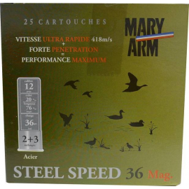 MARY ARM STEEL SPEED 36 MAG 2/3 12/20/76 25 CARTOUCHES